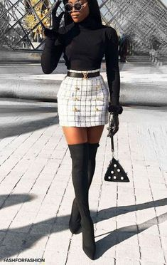 Inspiring Skirt Winter Outfits for Ladies - VINCI'S JOURNAL