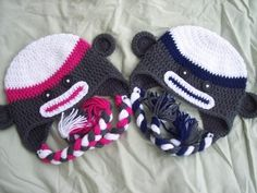 FREE Crochet Pattern for Child Size Sock Monkey Hat