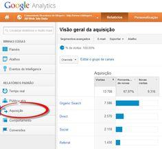 O Novo Menu de Aquisição do Google Analytics #CBBlogers