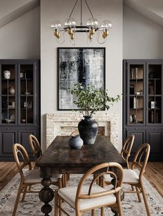 Turned Table Legs, Windsor Dining Chairs, Solid Oak, Decoration, Sweet Home, House Design, Dining Rooms, Fireplace In Dining Room, Dining Area