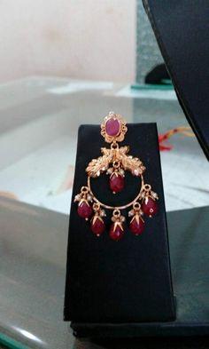 Jewelry Design Earrings, Gold Earrings Designs, Necklace Designs, Gold Bangles Design, Gold Jewellery Design, Gold Bridal Earrings, Gold Jewelry Simple, Blouse, Cute Toddlers