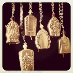 Dishfunctional Designs: On My Workbench: Butter Knife Handle Bell Pendant Necklaces
