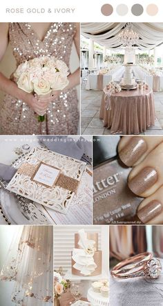 5 Gorgeous Neutral and Sparkle Wedding Colors with Matching .- 5 Gorgeous Neutral and Sparkle Wedding Colors with Matching Invitations Rose gold and ivory neutral wedding color inspiration - Perfect Wedding, Our Wedding, Dream Wedding, Wedding Scene, Wedding Country, Wedding Notes, Wedding Pins, Spring Wedding, Luxury Wedding