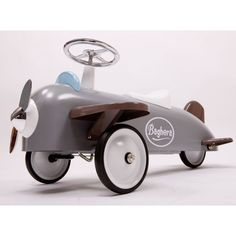 Baghera Speedster Plane Ride On Car | Toddler Pedal Aeroplane - Borntotoddle.com What little boy wouldnt want to fly away in this gem!