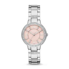 Beautiful watch- Fossil Virginia Three-Hand Stainless Steel Watch| FOSSIL® Watches