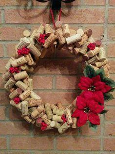 Winter Christmas, Christmas Time, Christmas Wreaths, Christmas Crafts, Christmas Decorations, Wine Craft, Wine Cork Crafts, Decor Crafts, Diy And Crafts