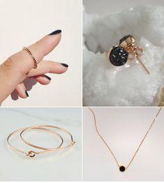 Rose gold and black diamonds