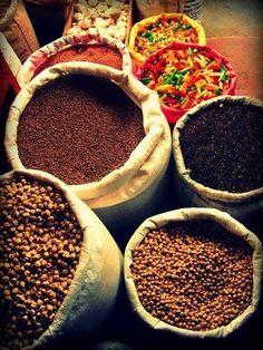 At Jaffna market ... SPICES !!!