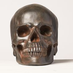 Turn your #Halloween party into a real SHRIEK with this spooky decorative skull from #MarthaStewartLiving available at homedecorators.com.