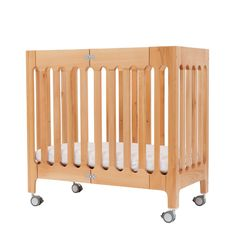Wooden Bassinet and Mini-Crib