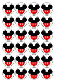 Pack of 30 Edible Sugar Icing Cupcake Toppers Mickey Mouse Ears Printed onto mini round discs great with other Mickey Toppers Edible Individual Cake Mickey Mouse Cake Topper, Mickey Mouse Birthday Cake, Fiesta Mickey Mouse, Theme Mickey, Mickey Mouse Cupcakes, Mickey Mouse Parties, Mickey Party, Mickey Mouse Clubhouse, Disney Parties