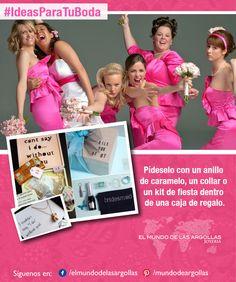 #Damas Sorprende a tus amigas y haz que sean parte de tu boda.