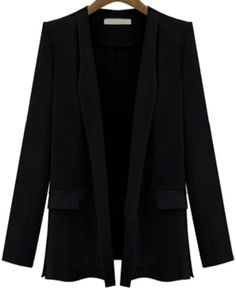 Blazer bolsillos manga larga-negro 12.75