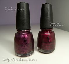 China Glaze Don't Make Me Wine, Red-y & Willing