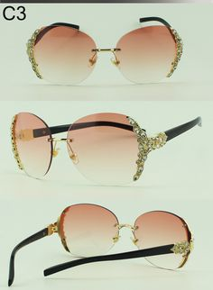 e0ba393161 Aliexpress.com   Buy Crystal Diamond Rimless Sunglasses Women Brand Designer  Summer Vintage Style Gradient