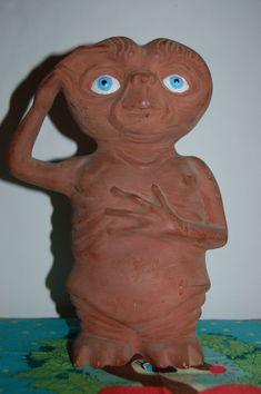 Vintage Ceramic ET Statue Extra Terrestrial by JunkyardElves