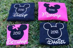 Disney World shirts for the family