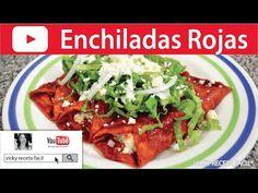 Enchiladas Rojas de Pollo - YouTube