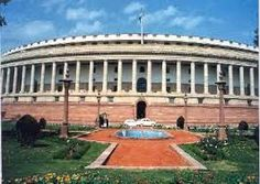 Government: This is the picture of India's parliament. In India, since they are a democracy they have almost the same system as the United States of America. The Parliament of India is equivalent to Congress in America. They have the Council of States which is like the Senate, and they have the House of the People which is like the house of representative. It works almost the same way.