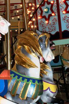 Heckscher Carousel Illions Goldilocks Mary Go Round, Carosel Horse, Ferris Wheels, Rocking Horses, Carnival Rides, Wooden Horse, Painted Pony, Amusement Parks, Beast