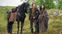 "Ep 1.12 ""Lallybroch"" | New Outlander Starz Promotional Photos | Sam Heughan as Jamie Fraser and Caitriona Balfe as Claire Fraser"