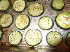 Quick, Healthy, Yummy Recipe: Baked Zucchini Slices