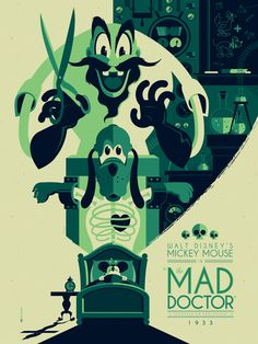 Poster for The Mad Doctor (1933), reimagined by Tom Whalen