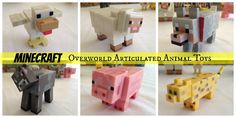ALL Six Passive Animal Mobs Minecraft Toys