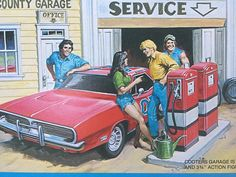 EARL NOREM MEGO THE DUKES OF HAZZARD COOTER'S GARAGE POSTER TOY PACKAGE ART | eBay Best Muscle Cars, American Muscle Cars, Famous Movie Cars, Bo Duke, Dukes Of Hazard, Uncle Jesse, 1957 Chevy Bel Air, Toy Packaging, Truck Art