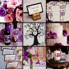 purple wedding theme. Photo: www.photokisses.com