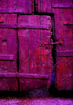 world's richest door? ; ) deep sea purple rain: 2014 - Pantone Colour Radiant Orchid, door