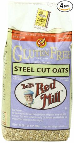 Bob's Red Mill Gluten Free Whole Grain, Steel Cut Oats, 24-Ounce Bags (Pack of 4): Amazon.com: Grocery & Gourmet Food