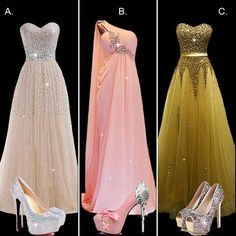 Which evening dress you will wear on your party? #PromDress #PartyDress #Shoes #Fashion #FreshFashion