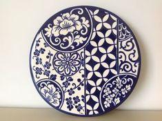 Ceramic painted by Mara Ribeiro - Santa Cerâmica