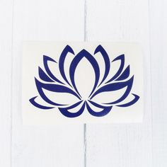 Lotus Flower Decal Lotus Flower Sticker Yoga Decal by SWVDesignCo