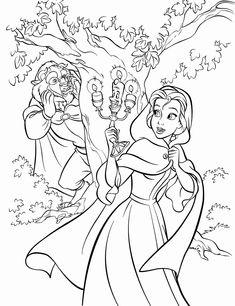 disney princess beauty and the beast ausmalbilder im park 2708 | disney prinzessin malvorlagen