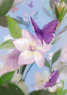 Purple butterflies - INCREDIBLY PRETTY!!⭕️