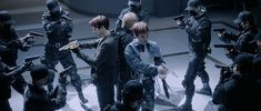 "EXO's teaser ""Love Shot"": will the killer concept with gun battle scenes attractive? Bts And Exo, Exo K, Kyungsoo, What Is Kpop, Exo 2014, Korean K Pop, Gangnam Style, Kpop Guys, Mens Flip Flops"