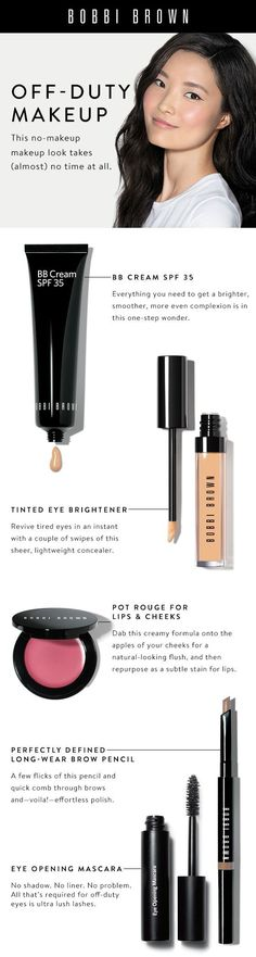 Easy no-makeup makeup look., Brows 101, Bobbi Brown Makeup, perfect makeup and beauty collection