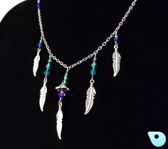 Glass bead necklace beaded necklace Tribal by CervelleDoiseau, $15.95