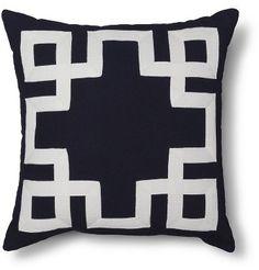 Greek Key Toss Pillow