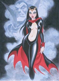 Lilith by Bruce Timm Art Arte Vampires Vampiri Horror Bruce Timm, Girl Cartoon, Cartoon Art, Comic Books Art, Book Art, Bishoujo Statue, Character Art, Character Design, Arte Dc Comics