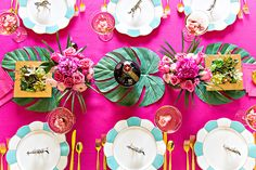 DIY Cocktail Party Tablescape with Chambord, See More at Pizzazzerie.com