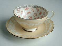 Rare Paragon Signs and Symbols Fortune Telling Tea Cup and Saucer