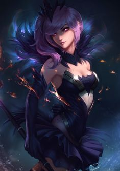 Dark Elementalist Lux by raikoart on DeviantArt