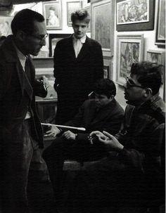 William Burroughs, Peter Orlovsky, Gregory Corso and Allen Ginsberg