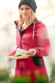 Куртка-стретч «софтшелл», bpc bonprix collection, темно-красный