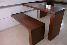 Space Saving Furniture Design – Efficiency Apartment Design Furniture with Minimalist Apartment: Space Saving Furniture Design With Stool Eating Slide ~ gozetta.com Furniture Inspiration