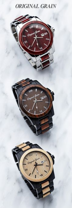 Diamond Watches Collection : Made with the finest exotic hardwoods in the world, Original Grain watches are h. - Watches Topia - Watches: Best Lists, Trends & the Latest Styles Cool Watches, Watches For Men, Casual Watches, Men's Watches, Hally Berry, Looks Style, My Style, Things To Buy, Stuff To Buy