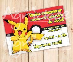 Convite Virtual Pokémon                                                                                                                                                                                 Mais